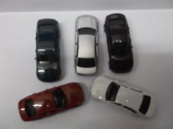 Pack of 5 OO Scale Cars